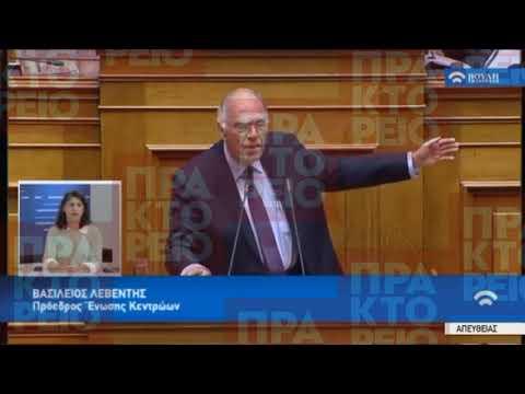 Απόσπασμα από την ομιλία του Βασίλη Λεβέντη στη συζήτηση για την ψήφο εμπιστοσύνης στην Κυβέρνηση