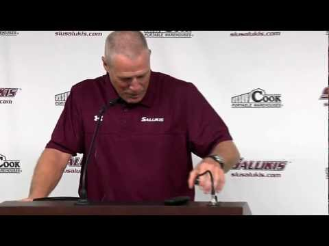 Saluki Football Pre-Season Press Conference 2012 part 1