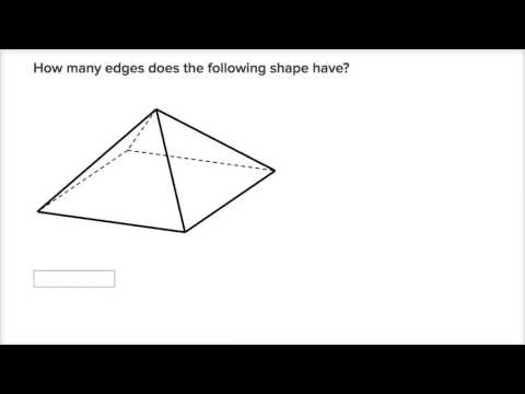 Counting Faces And Edges Of 3d Shapes Video Khan Academy