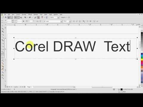 Corel Draw X5 Text Tutorial