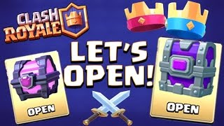 EPIC CHEST AND MAGICAL CHEST OPENING! :: Clash Royale :: LEGENDARY CARD DROP?