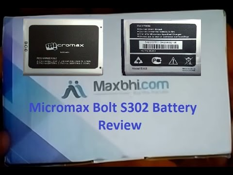 See Micromax Bolt S302 First Ever Battery From Maxbhi Unboxing