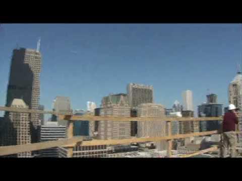 Views from a northeast corner penthouse at 235 Van Buren