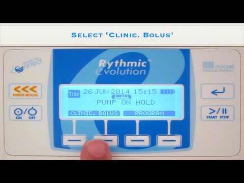 5 clinician bolus - Hướng dẫn sử dụng bơm tiêm giảm đau Rythmic Micrel