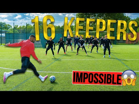 SHOOTING AGAINST 16 KEEPERS | IMPOSSIBLE CHALLENGE | Billy Wingrove & Jeremy Lynch