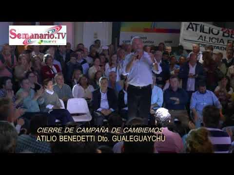 CAMBIEMOS Cierre de campaña en Gualeguaychu.