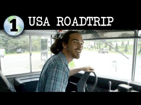 road trip - Episode 1 of a multi part series documenting the epic road trip adventure Louis and 14 heroes embarked on driving 9000 miles across the USA in a school bus i...