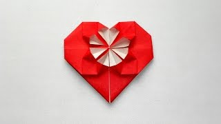 Сердце из бумаги Оригами валентинка