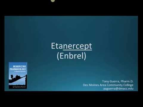 How to pronounce etanercept (Enbrel) (Memorizing Pharmacology Flashcard)