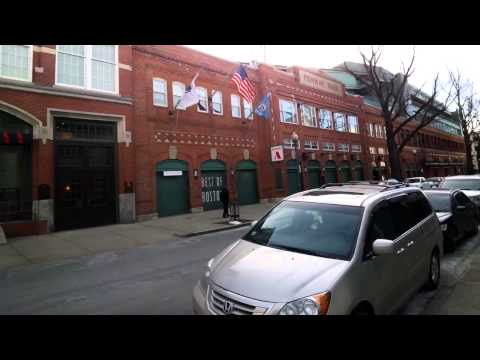 Fenway Park During the Offseason Through Glass (Kenmore Square)