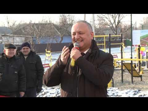 Șeful statului a participat la inaugurarea unui complex sportiv din Ungheni