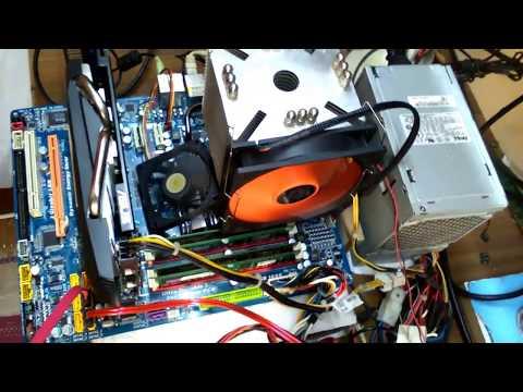 Gigabyte GA-EP45 UD3P DDR2 16GB RAM(4+4+4+4 DDR2)XEON X5460 ve GTA V OYUN TEST