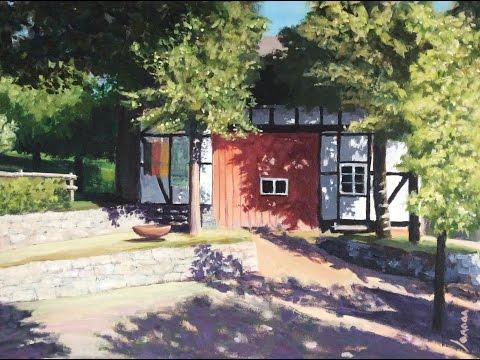 Malen mit Acryl: Das Heider Dorfhaus