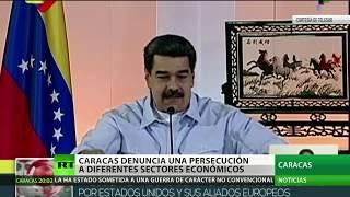 Maduro denuncia una persecución en diferentes sectores económicos