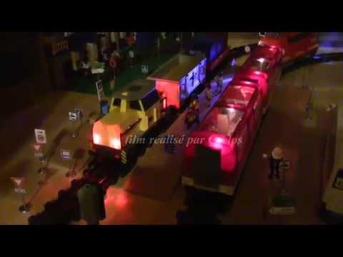(O5258.6) playmobil Train marchandises cargo ref 5258 wagons ref 4010 4126