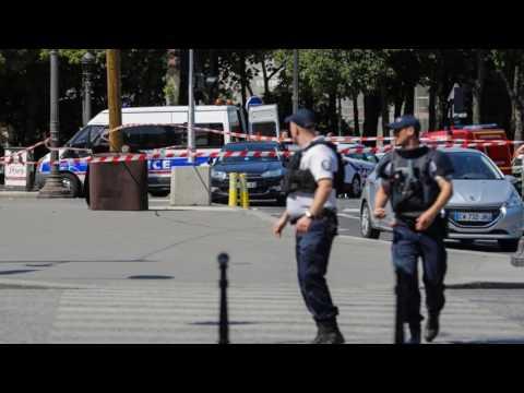 News Update Paris cordons off Champs Elysees after car hits police van 19/06/17