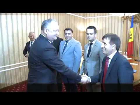 Igor Dodon a avut o întrevedere cu delegația Asociației Europene a Sportului Universitar