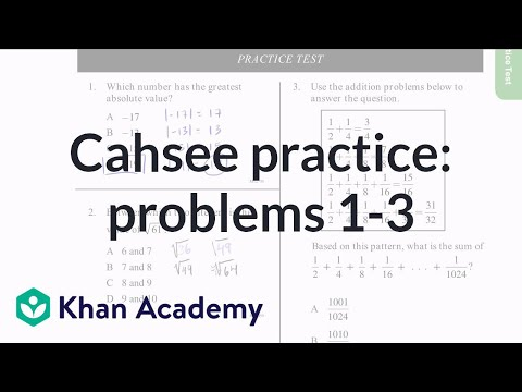 CAHSEE Example Problems