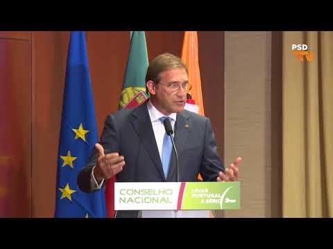 Conselho Nacional do Partido Social Democrata: Declarações de Pedro Passos Coelho