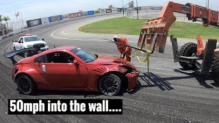 Crashing my 350z at Irwindale Speedway... by TJ Hunt