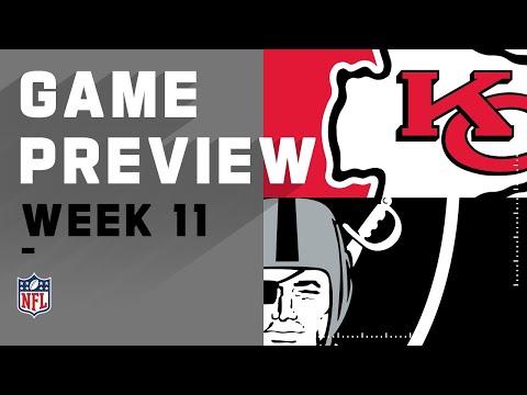 Kansas City Chiefs Vs Las Vegas Raiders Week 11 Preview | 3 Things To Watch!