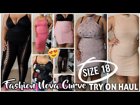 SIZE 18 PLUS SIZE FASHION NOVA CURVE SEXY SUMMER TRY ON HAUL