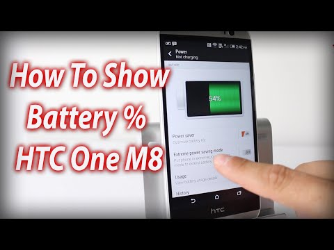 how to get battery percentage on htc one x
