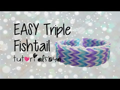 EASY Triple Fishtail Rainbow Loom Tutorial