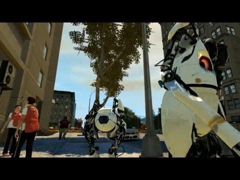 Grand Theft Auto IV - Portal 2 ATLAS and P-body [MOD]