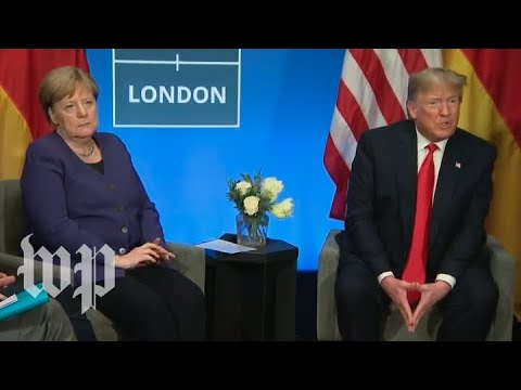 Watch live Trump meets with Germany39s Merkel at NATO summit