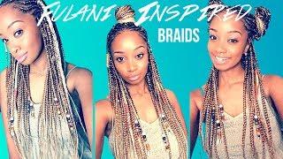 Video 🔥DIY Fulani Inspired Braids ☀️Dirty Blonde Summer Style💁🏽 MP3, 3GP, MP4, WEBM, AVI, FLV Januari 2019