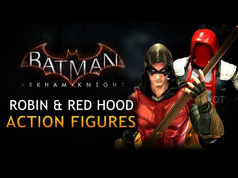 robin - First look at the new action figures based on Robin (Tim Drake) and Red Hood (Jason Todd) from Batman: Arkham Knight - San Diego Comic-Con 2014 Batman Arkham Knight News Playlist: http://www.youtu...