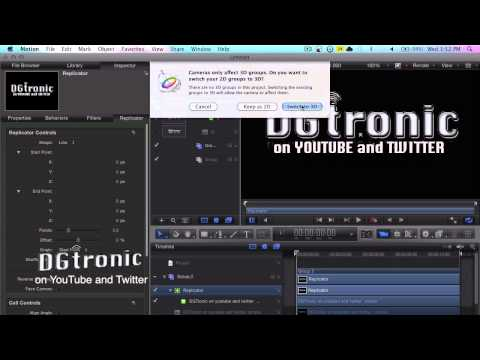 motion 5 tutorial shining - this is tutorial video on how to make a logo 3D in Apple Motion 5.