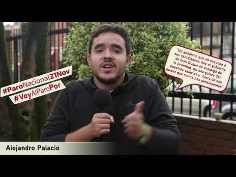 Alejandro Palacio va al #ParoNacional21N