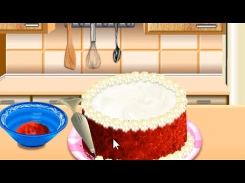 Games For Kids | Cooking Online | Sara's Cooking Class Red Velvet Cake