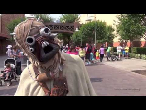 Hollywood - Here are Sand People AKA Tusken Raiders meeting guests during Star Wars Weekends at Disney's Hollywood Studios. They were really interested in my camera. Tod...