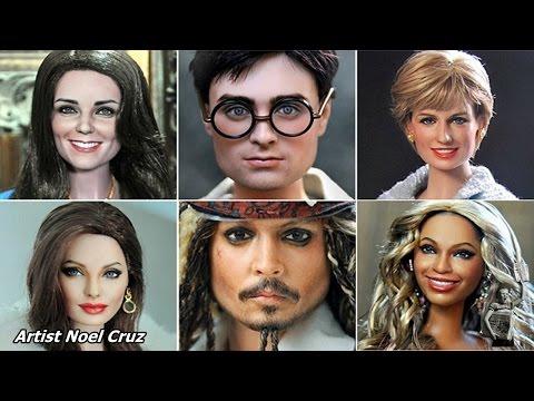 這神人將一堆「製作得超不堪入目」的洋娃娃回家,當他重新上色後竟然變得跟真人長得一模一樣!