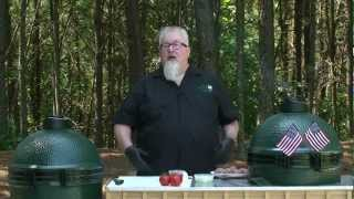 Dr. BBQ's Stuffed Burgers on the Big Green Egg