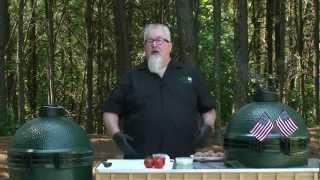 Dr. BBQ's Stuffed Burgers on the Big Green Egg