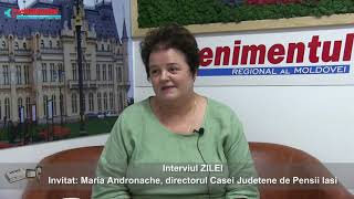 Interviul ZILEI-invitat: Maria ANDRONACHE, directorul Casei Judetene de Pensii