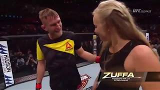 Check out Alexander Gustafsson in the Octagon after his impressive win over Glover Teixeira. Also, witness Gustafsson propose to his girlfriend. Spoiler aler...