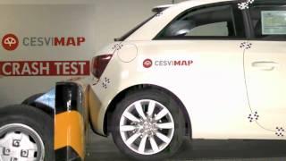 Crash test trasero Audi A1 en Cesvimap