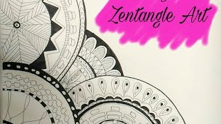 hello everyone! Want to draw a zentangle , but dont know how to start? well here it is . In my today's video I will show how to draw a perfect zentangle in a...
