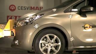 Bumper Test delantero Peugeot 208 en CESVIMAP