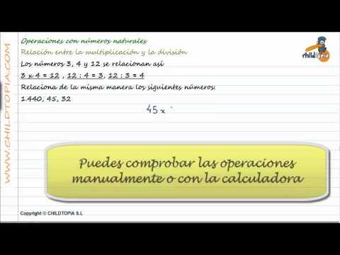 Vídeos Educativos.,Vídeos:Relación multiplicar / dividir 4