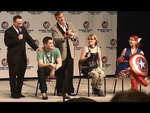 bruce_campbell - Bruce Campbell vs The Audience w/ Ted Raimi. Wizardworld St. Louis Comicon 2014. Bruce and Ted turn the tables on the audience and challenge audience members...