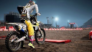 Monster Energy Supercross - Husqvarna FC 450 - Test Ride Gameplay (PC HD) [1080p60FPS]