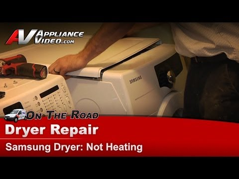 Samsung Dryer Diagnostic Repair – Not Heating – DV210AEWXAA