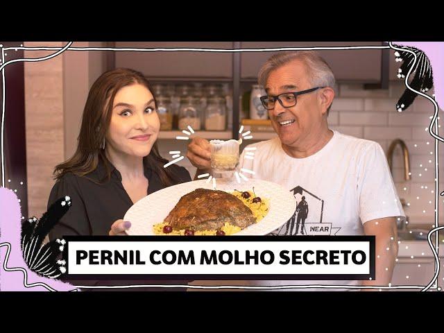 Natal em família: PERNIL com MOLHO SECRETO e farofa! | Lu Ferreira | Chata de Galocha - Chata de Galocha