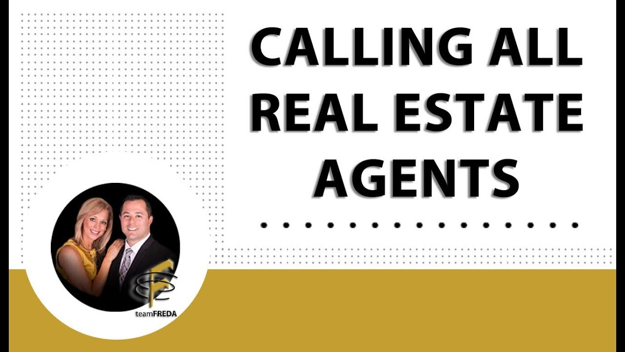 Calling All Full-Time Real Estate Agents!
